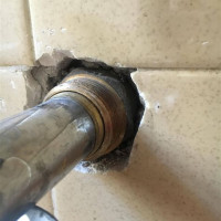 Bathroom Drain Pipe Leaking In Wall